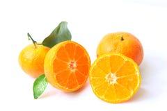 Corte la naranja abierta Imágenes de archivo libres de regalías