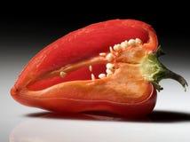 Corte la pimienta de la paprika Imagenes de archivo