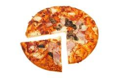 Corte la pizza imagenes de archivo
