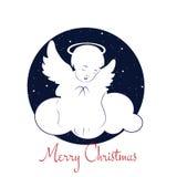 Corte la tarjeta de Angel Christmas Feliz Navidad Idea conceptual Fotos de archivo
