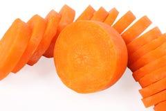 Corte la zanahoria Imagenes de archivo