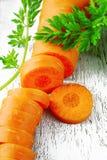 Corte la zanahoria de bebé Fotos de archivo