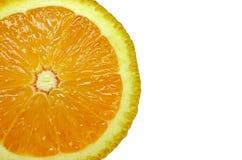 Corte a laranja Fotografia de Stock Royalty Free