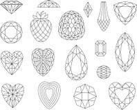 Corte las gemas aisladas en el fondo blanco Imagen de archivo