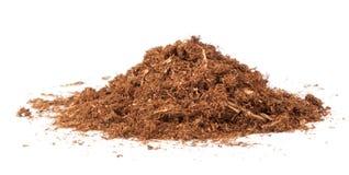 Corte las hojas secadas del tabaco imagen de archivo