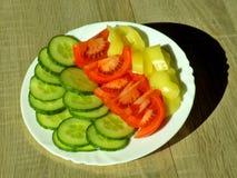 Corte las verduras frescas Foto de archivo libre de regalías
