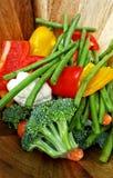 Corte las verduras frescas Imagen de archivo
