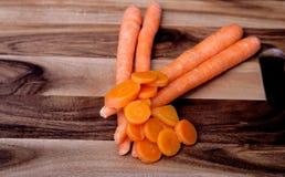 Corte las zanahorias Foto de archivo libre de regalías