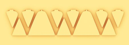 Corte letras com o foco nos espaços entre as letras ilustração royalty free