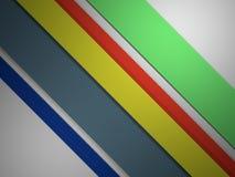 Corte linhas retas fundo abstrato de cor 3d de papel Fotografia de Stock Royalty Free