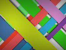 Corte linhas retas fundo abstrato de cor 3d de papel Fotografia de Stock