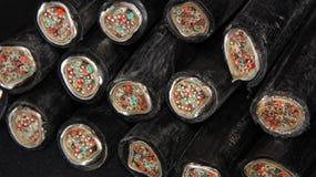 Corte los cables de cobre del teléfono Fotografía de archivo libre de regalías