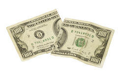 Corte los dólares Imagen de archivo libre de regalías