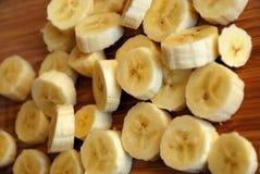 Corte los plátanos Foto de archivo libre de regalías