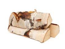 Corte los registros de la madera del fuego Fotografía de archivo