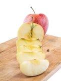 Corte a maçã imagem de stock