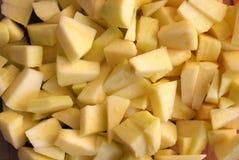 Corte maçãs fotografia de stock