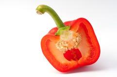 Corte a metade da pimenta vermelha Imagem de Stock Royalty Free