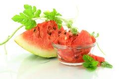 Corte o fruto da melancia Imagem de Stock Royalty Free