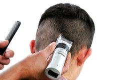 Corte o homem do cabelo Fotografia de Stock