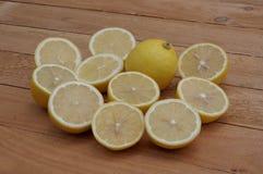 Corte o limão Foto de Stock Royalty Free