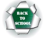 Corte o logotipo de papel de volta ao vetor da escola ilustração royalty free