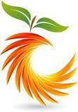 Corte o logotipo do fruto ilustração royalty free