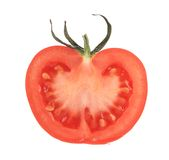 Corte o meio tomate Fotografia de Stock