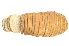 Corte o naco de pão isolado Fotografia de Stock Royalty Free