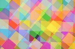 Corte o papel colorido Diamond Pattern imagem de stock