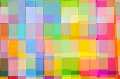 Corte o teste padrão do quadrado do papel colorido Foto de Stock