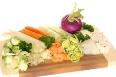 Corte recentemente vegetais da sopa Fotografia de Stock Royalty Free