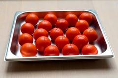 Corte rojo de los tomates Imagen de archivo