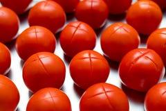 Corte rojo de los tomates Foto de archivo libre de regalías
