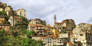 Corte stad i Korsika arkivfoton