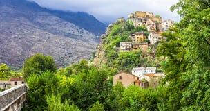 Corte stary miasteczko w Corsica zdjęcie royalty free
