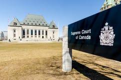 Corte suprema da construção de Canadá Foto de Stock