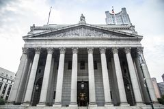 Corte suprema de New York City durante o dia foto de stock royalty free