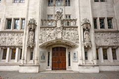 Corte suprema del Regno Unito Londra, Regno Unito Fotografie Stock Libere da Diritti