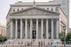 A corte suprema do estado de New York Foto de Stock Royalty Free