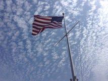 A corte suprema em Washington, C S uma bandeira Fotos de Stock