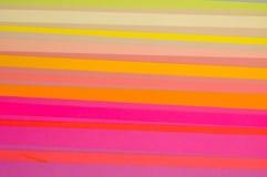 Corte teste padrão listrado de papel colorido Imagem de Stock Royalty Free