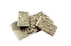Corte tiras de placas de níquel do cátodo Imagem de Stock Royalty Free