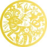 Corte tradicional del papel chino stock de ilustración