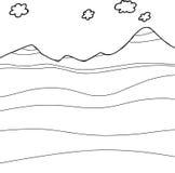 Corte transversal de la montaña del esquema ilustración del vector