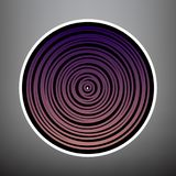 Corte transversal de madera Vector Icono violeta de la pendiente con negro y ilustración del vector