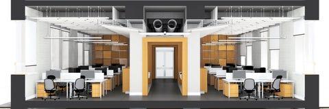 Corte transversal del espacio de oficina Fotografía de archivo libre de regalías
