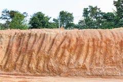 Corte transversal laterítico del suelo Fotografía de archivo