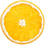 Corte a través la naranja Fotografía de archivo libre de regalías