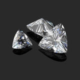 Corte trilliant dos diamantes Foto de Stock
